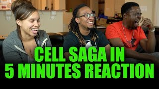 YOOO These Dudes are WILD!! Cell Saga in 5 Minutes Reaction!!