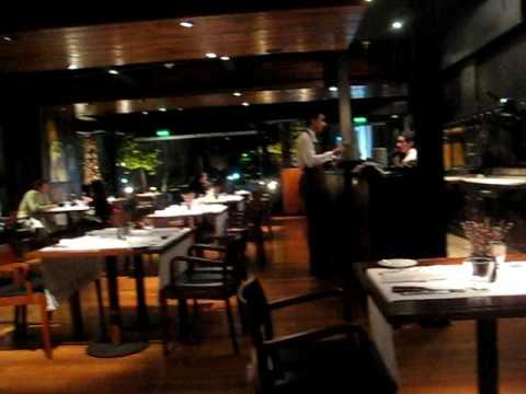 Fernando and Nelson at Q Grill. Hyatt Hotel, Mendo...
