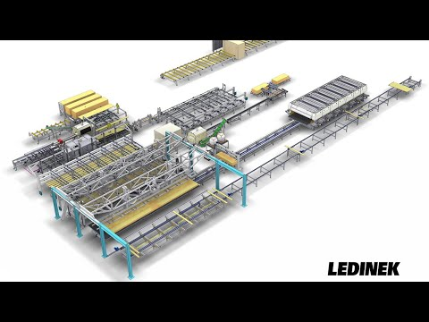 Complete production line for CROSS LAMINATED TIMBER CLT by Ledinek