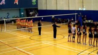 2011-2012年度全港學界精英排球比賽女子組冠軍賽事進場