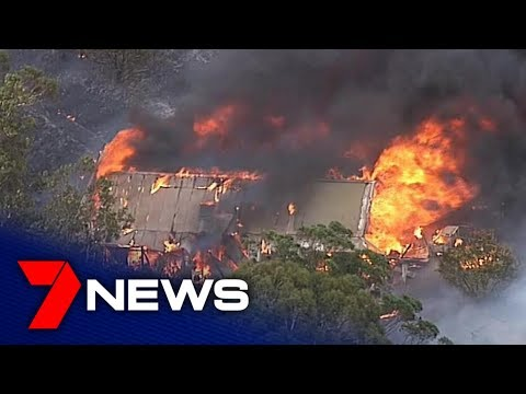 SA in the grips of bushfire emergency with one dead, properties lost   Adelaide   7NEWS