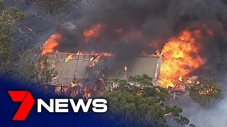 SA in the grips of bushfire emergency with one dead, properties lost | Adelaide | 7NEWS