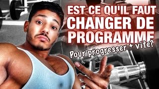 Quand CHANGER de PROGRAMME de MUSCULATION? by Bodytime