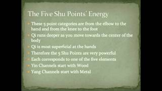 Acupuncture: The Five Shu Points Intro