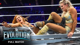 FULL MATCH: Becky Lynch vs. Charlotte Flair - SmackDown Women's Title Match: WWE Evolution
