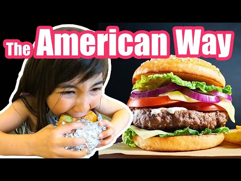 How To Eat A Burger The American Way!