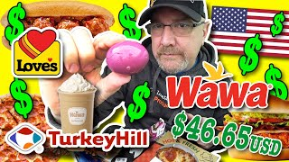 I only ate from USA GAS STATIONS for 24 hours! ☕️???????????? PART 2 •Love's, Turkey Hill u0026 Wawa