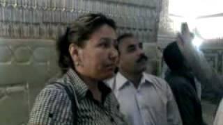 Ghazal guide giving information inside Amir Taimur mouselium in Samarkand Uzbekistan .mp4