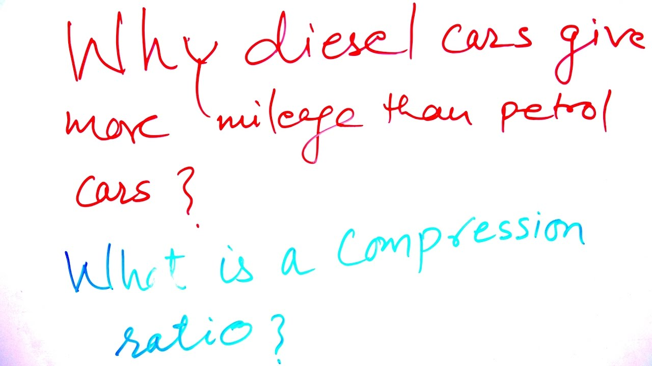 Why Diesel cars give more mileage? - YouTube