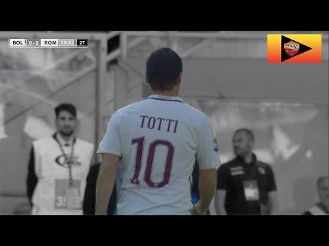 Standing ovation del Dall'Ara all'entrata di Totti - Bologna VS Roma