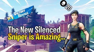 The New Silenced Sniper is Amazing... | 20 KILL SOLO DUO