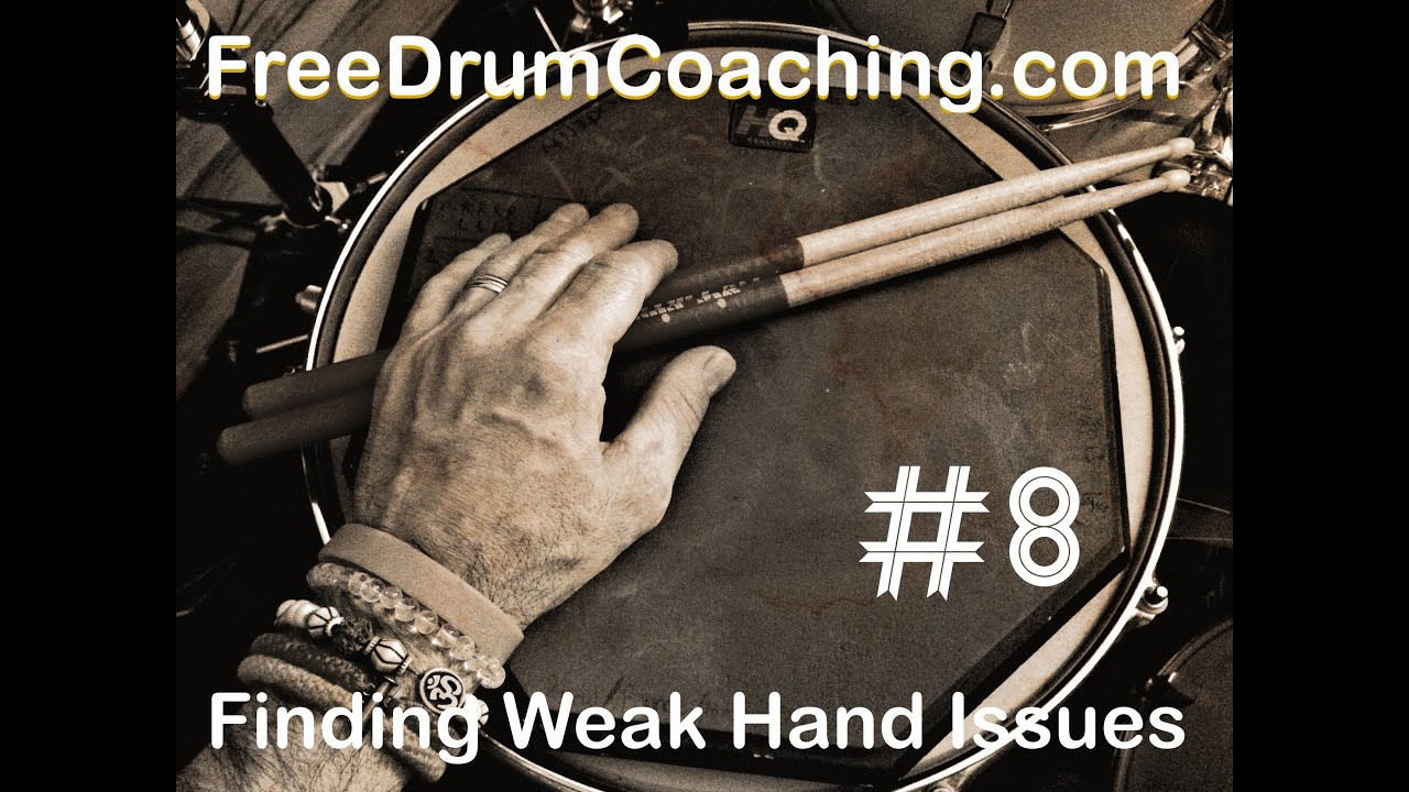Finding Weak Hand Issues  FreeDrumCoaching.com #8 with Jai Es