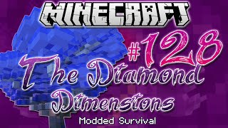 """RAINING BLUE WOOD"" | Diamond Dimensions Modded Survival #128 | Minecraft"