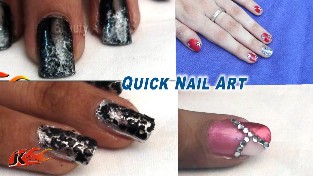 4 Easy And Quick Nail Art For Beginners Jk Beauty Art 001 Nailart