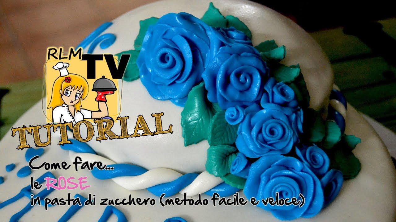 Come Fare Le Rose In Pasta Di Zucchero (metodo Facile E Veloce  #013E7E 3000 1688 Come Cucinare Piccole Trote