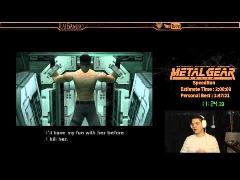 Metal Gear Solid Speedrun New PB 1:34:00