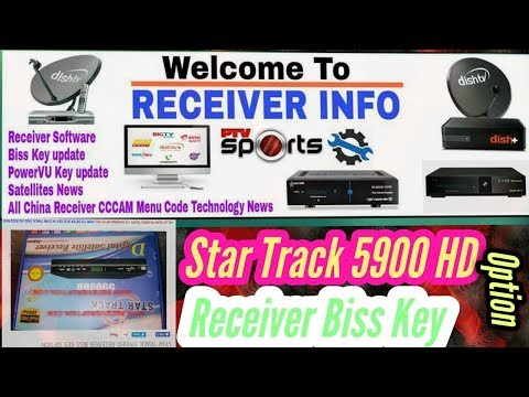 STAR TRACK 5900HD RECEIVER BISS KEY OPTION - YouTube