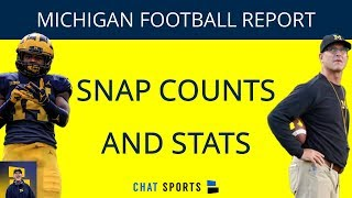 Michigan Football News: Positional Snap Count, Zach Charbonnet Stats, Offensive & Defensive Leaders