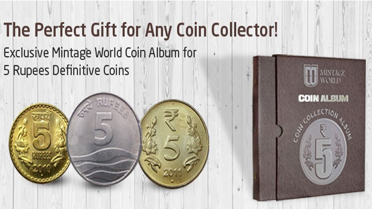 exclusive mintage world definitive 5 rs coin collection album with rh youtube com