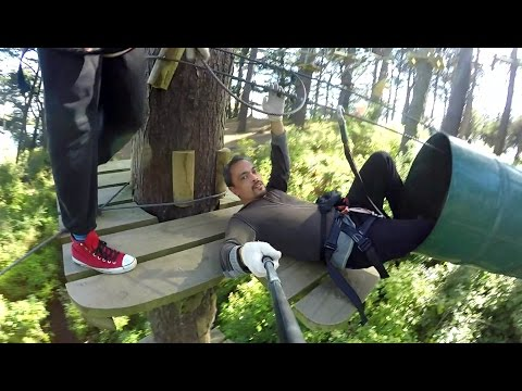 Adrenalin Forest - Wellington - Course 2 | High Ropes & Obstacle Course | Flying Foxes | New Zealand
