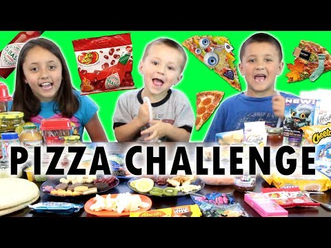 PIZZA CHALLENGE w  Tabasco Hot Sauce Jelly Beans (FUNnel V Family Fun)