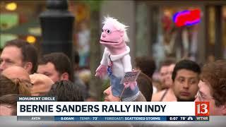 Sen. Bernie Sanders holds rally in Indianapolis