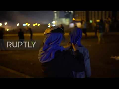 Lebanon: Tear gas rains down in new round of anti-government protests in Beirut
