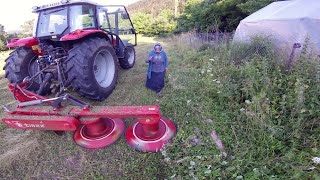 The First Meadow of the Season | Massey Ferguson 5440 [GoPro]