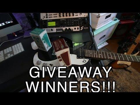 Danelectro Giveaway Winners!