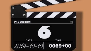 Clapperboard Countdown 10 sec BEST Timer (v 173) Filmklappe countdown timer with sound effects uHD