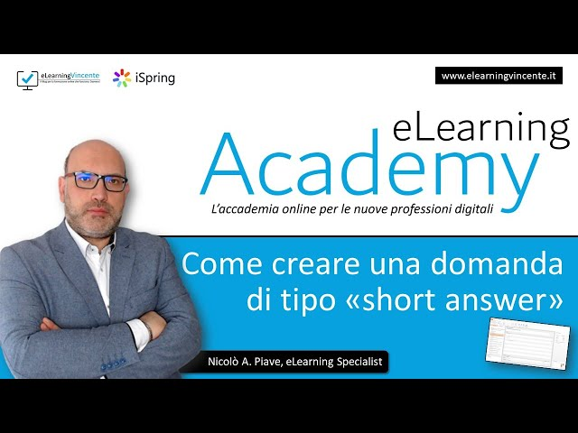 Come creare una domanda a risposta breve (short answer) con iSpring Suite 9.7 - Tutorial