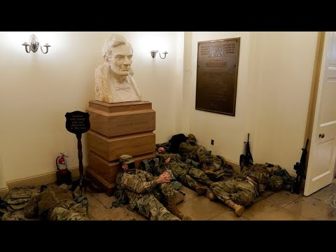 National Guard troops sleep inside Capitol ahead of Trump impeachment 2.0