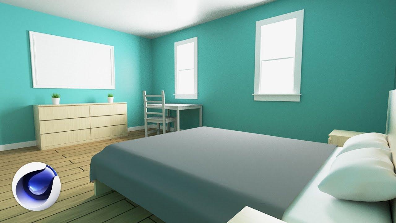 How to Design a Bedroom in Cinema 11D  Set Designer