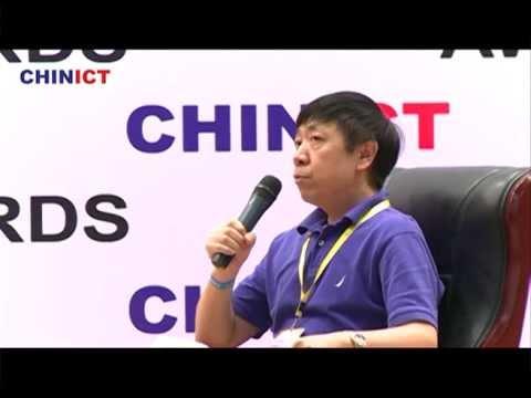 KU6's CTO Jian Lu speaks at CHINICT in Beijing.