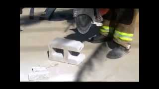 The EXTRACTOR-II Rescue Blade™ -  Cutting Concrete Block