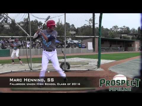 Marc Henning Prospect Video, SS, Fallbrook Union High School