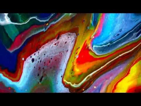 Paint Poured From Glass