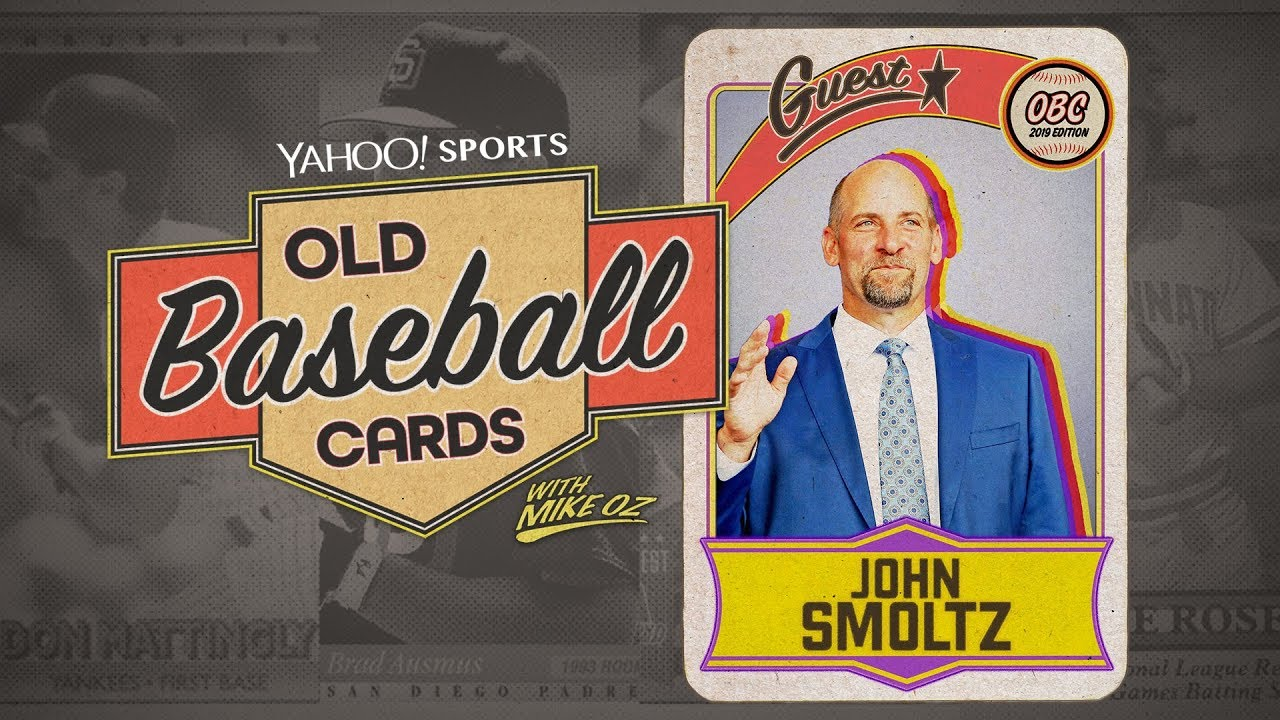 Hall Of Famer John Smoltz Finds The Perfect Card At The World Series Old Baseball Cards