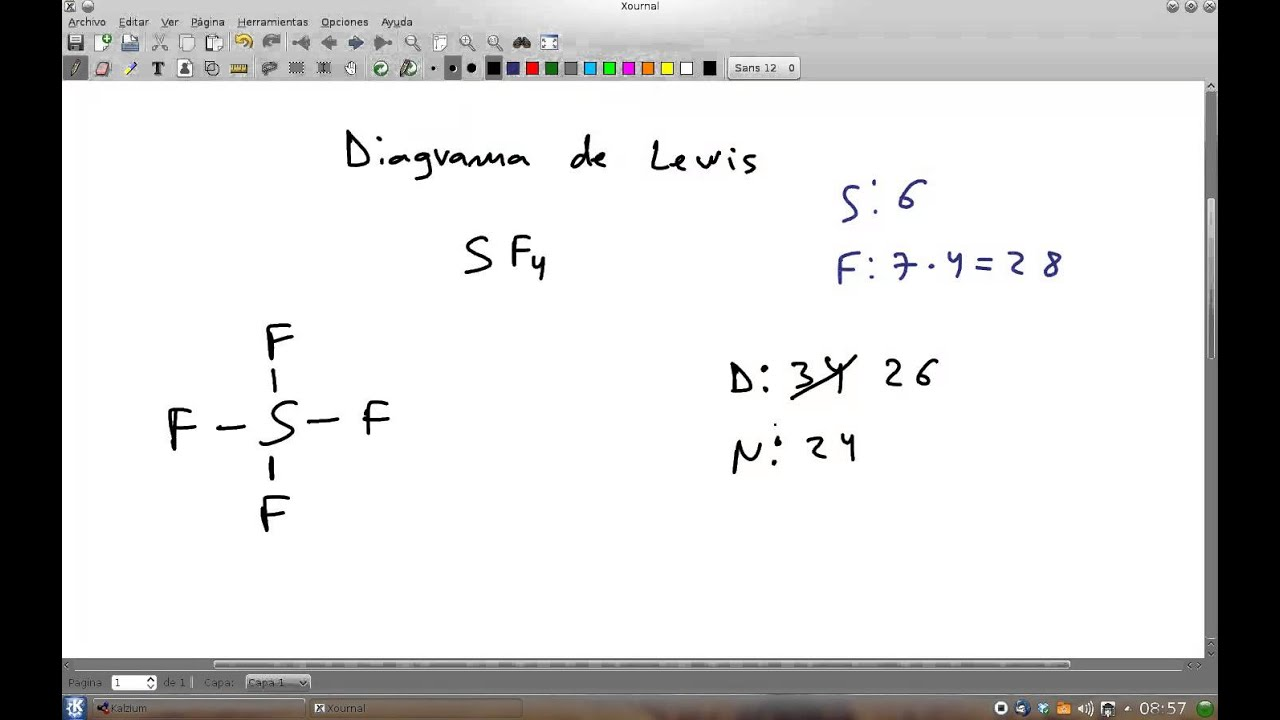 Diagrama de Lewis del tetrafluoruro de azufre SF4 - YouTube
