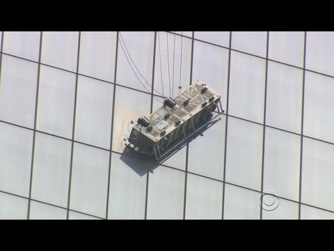 Window washers rescued at One World Trade Center