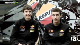 Entrevista Alex Rins y Alex Marquez - Pilotos Repsol Monlau Competición - PRMotor TV