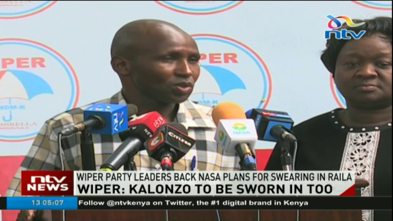 Wiper leaders back NASA plans to swear in Raila Odinga