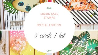 SPECIAL EDITION|4 DESIGNS| SIMON SAYS STAMP OCT 2019