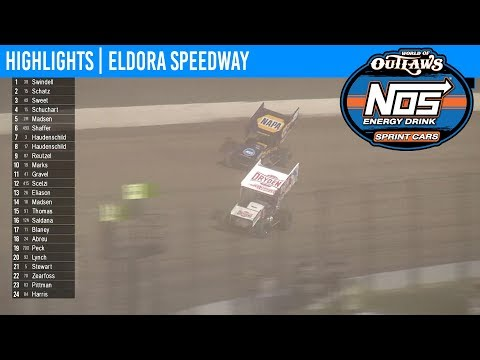 World of Outlaws NOS Energy Drink Sprint Cars Eldora Speedway, July 20th, 2019 | HIGHLIGHTS