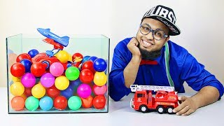 Learn Colors and Learn Vehicle Names with Pewpi | Colorful Surprise Educational Videos for Kids