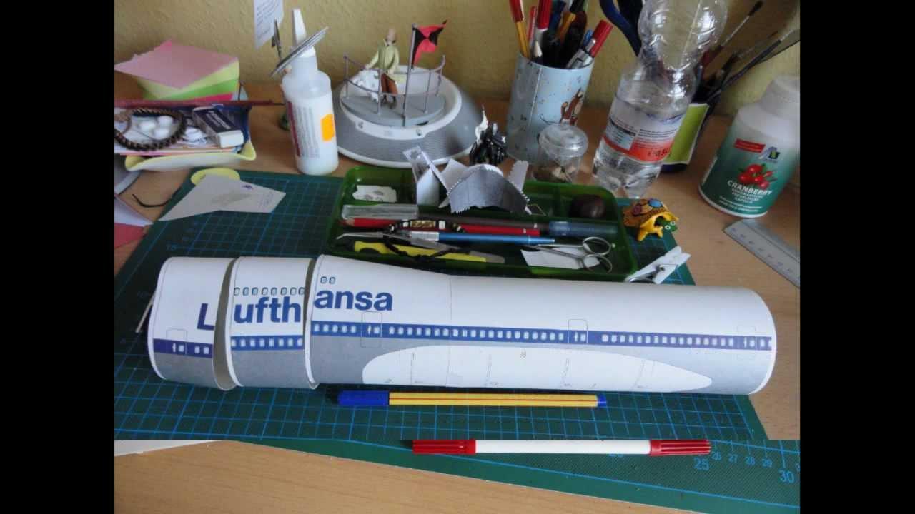 Papercraft Boeing 747 - Paper Model - Schreiber Bogen