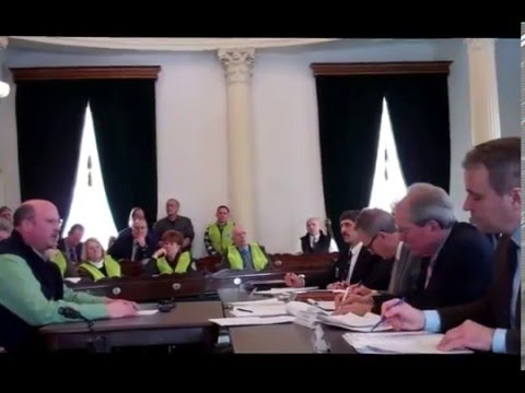 Vermonters testify to Senate Natural Resources and Energy Committee, Jan. 20, 2016