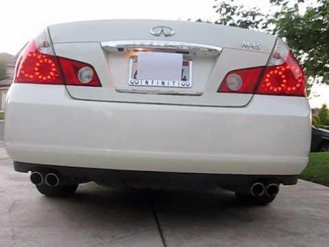 2006 Infiniti M45 Stock Exhaust Youtube