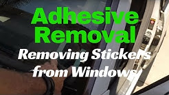 Sticker Removal from Car Window