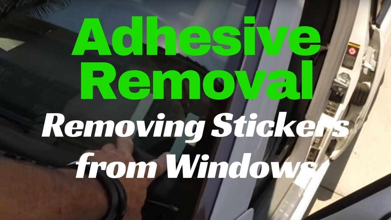 How To Remove Stickers From Car Window >> Sticker Removal From Car Window